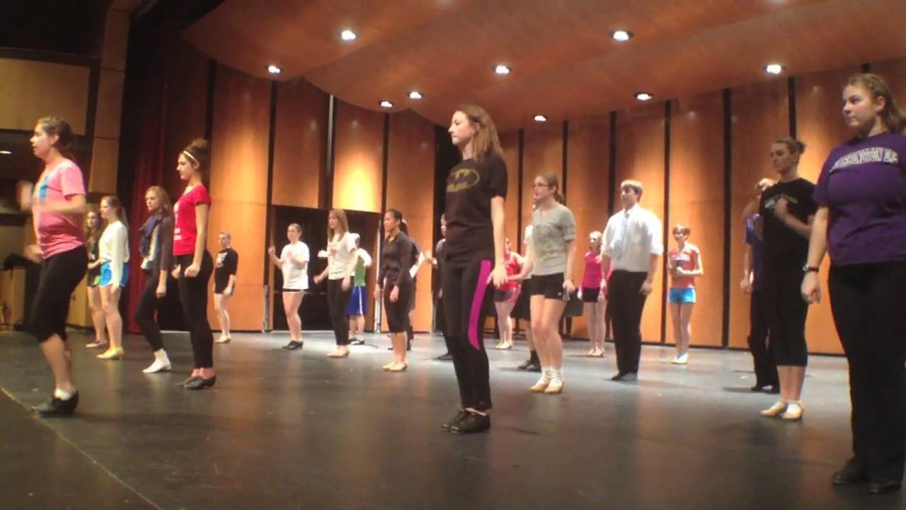 The Artist Next Door: FHS tap dancers rehearse a surprise
