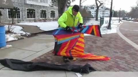 Elkhart Lake's Schnee Days had a little extra color this year as kite flying enthusiasts dotted the frozen Elkhart Lake water.