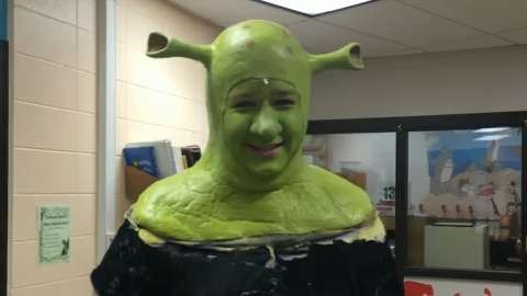 "See North High School's Ian Rucker transform into ""Shrek."" (Feb. 3, 2014)"