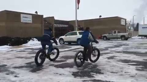 Fat tire bikes are getting more popular -- and can provide outdoor fun year round. (Feb. 3, 2015/Deb Cleworth)