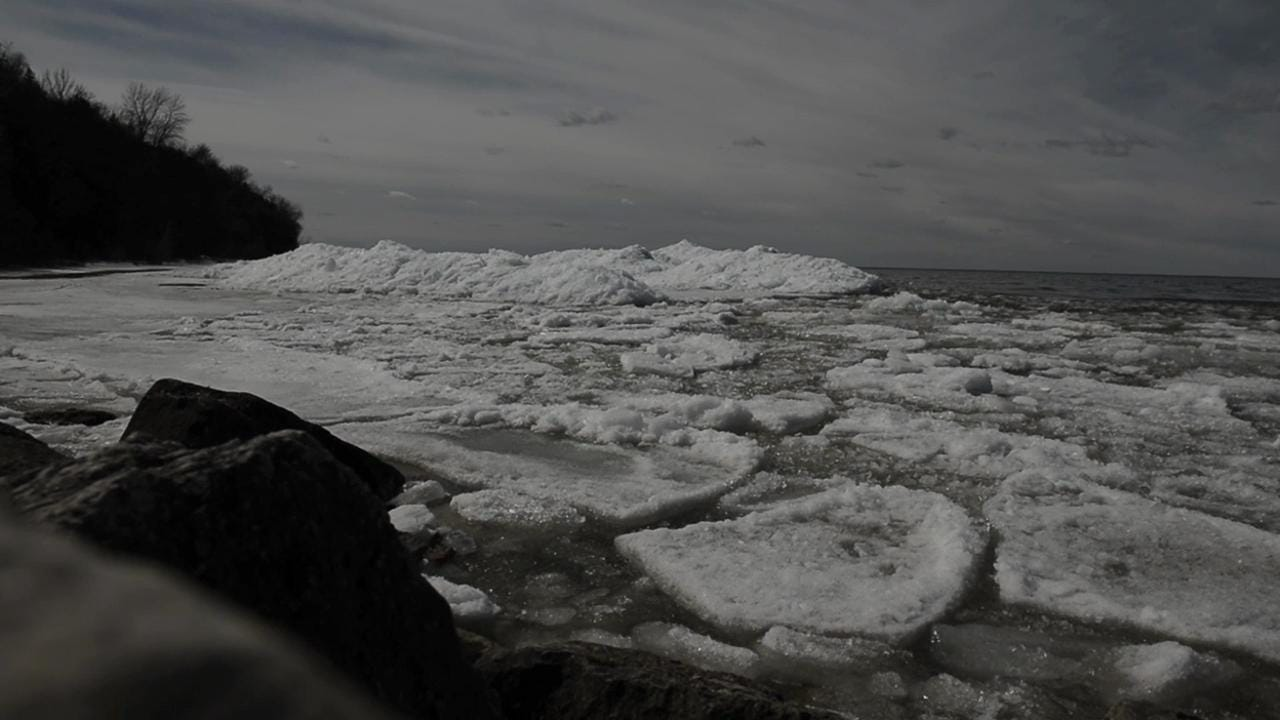 Ice shoves at Bay Shore County Park in the Town of Scott on Monday, March 30, 2015