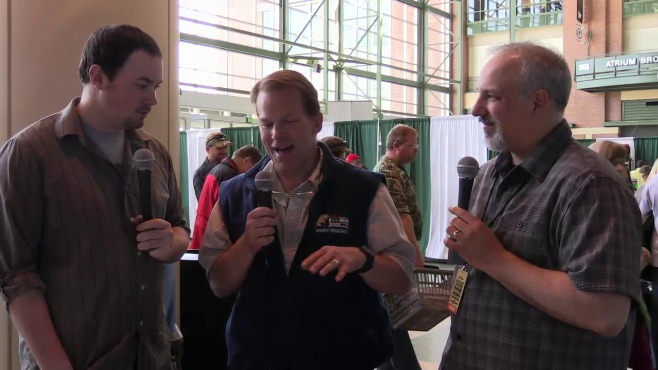 Professional walleye angler Chase Parsons and DNR fisheries specialist Karl Scheidegger offered their thought and tips on walleye fishing in Wisconsin as part of the 2015 Spring Mills Fleet Farm Sports & Outdoors Show in Green Bay. (April 17, 2015)