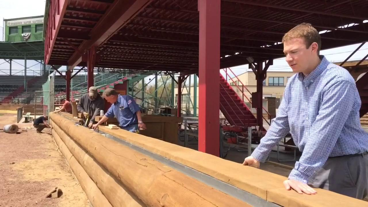 The Wisconsin Rapids Rafters collegiate baseball team is less than a month away from opening day. New Witter Field features, including the Point Craft River and an organ, will be in place.