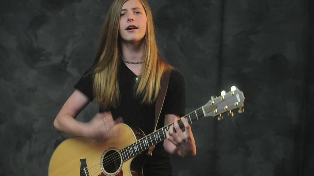 Zakk Abitz sings his song Stand Up