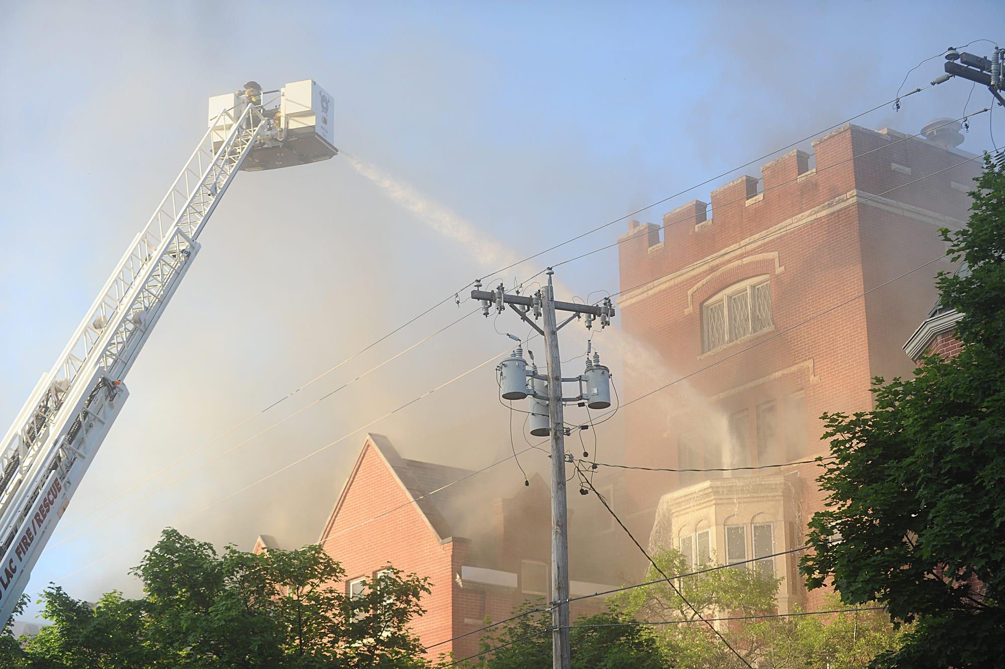 Fire breaks out in Fond du Lac church