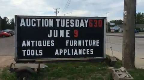 A little peek at a Tuesday night auction fun at Barrett's Auctions in Wisconsin Rapids. (June 12, 2015)