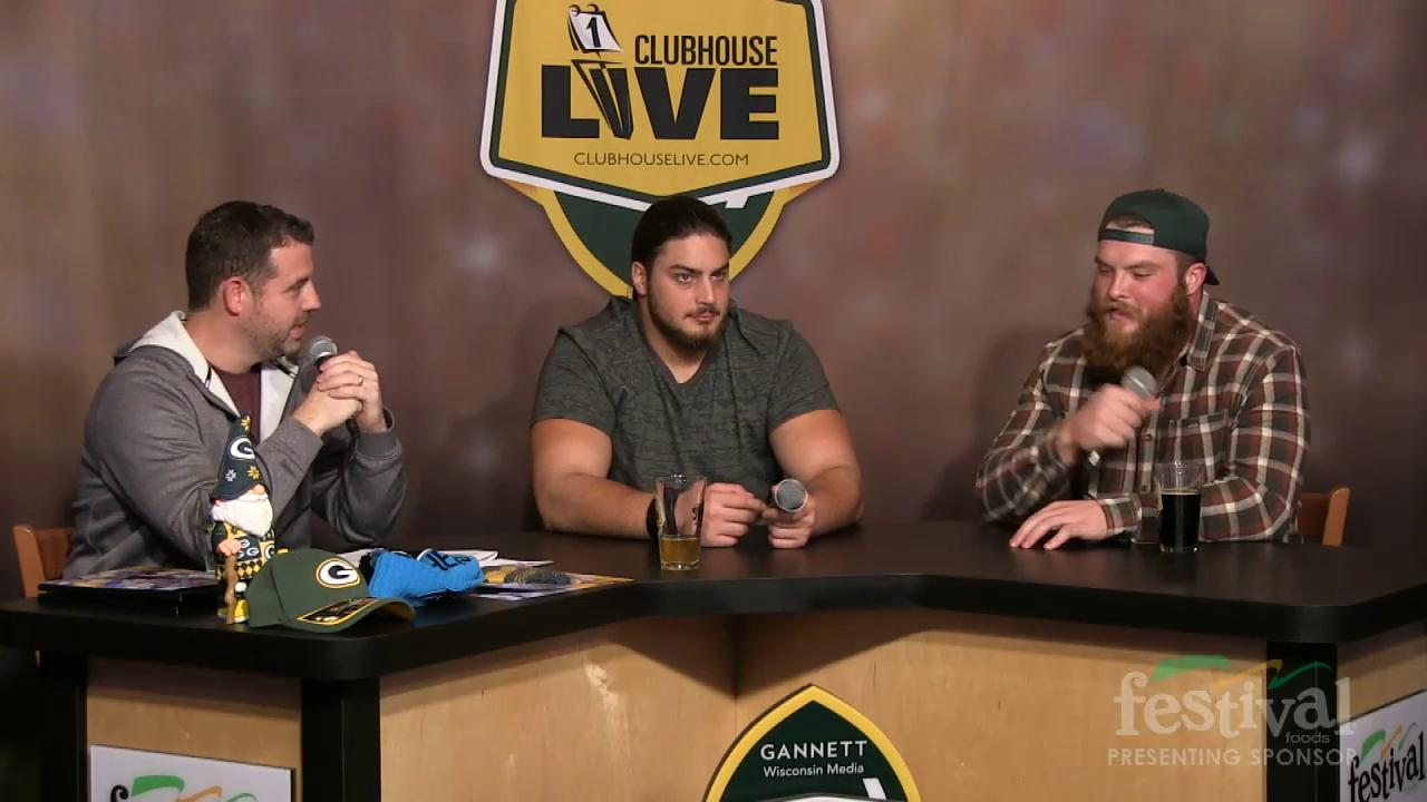 Green Bay Packers David Bakhtiari as the co-host of Clubhouse Live, Gannett Wisconsin Media's live weekly pro football show from The Clubhouse in downtown Appleton. Bakhtiari's guest was fullback Aaron Ripkowski. (Nov. 2, 2015)