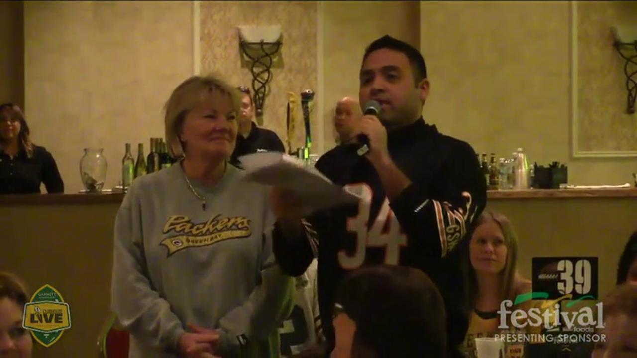 Green Bay Packers David Bakhtiari co-hosts Clubhouse Live, Gannett Wisconsin Media's live weekly pro football show from The Clubhouse in downtown Appleton. Bakhtiari's guest was receiver Randall Cobb (Nov. 23, 2015)