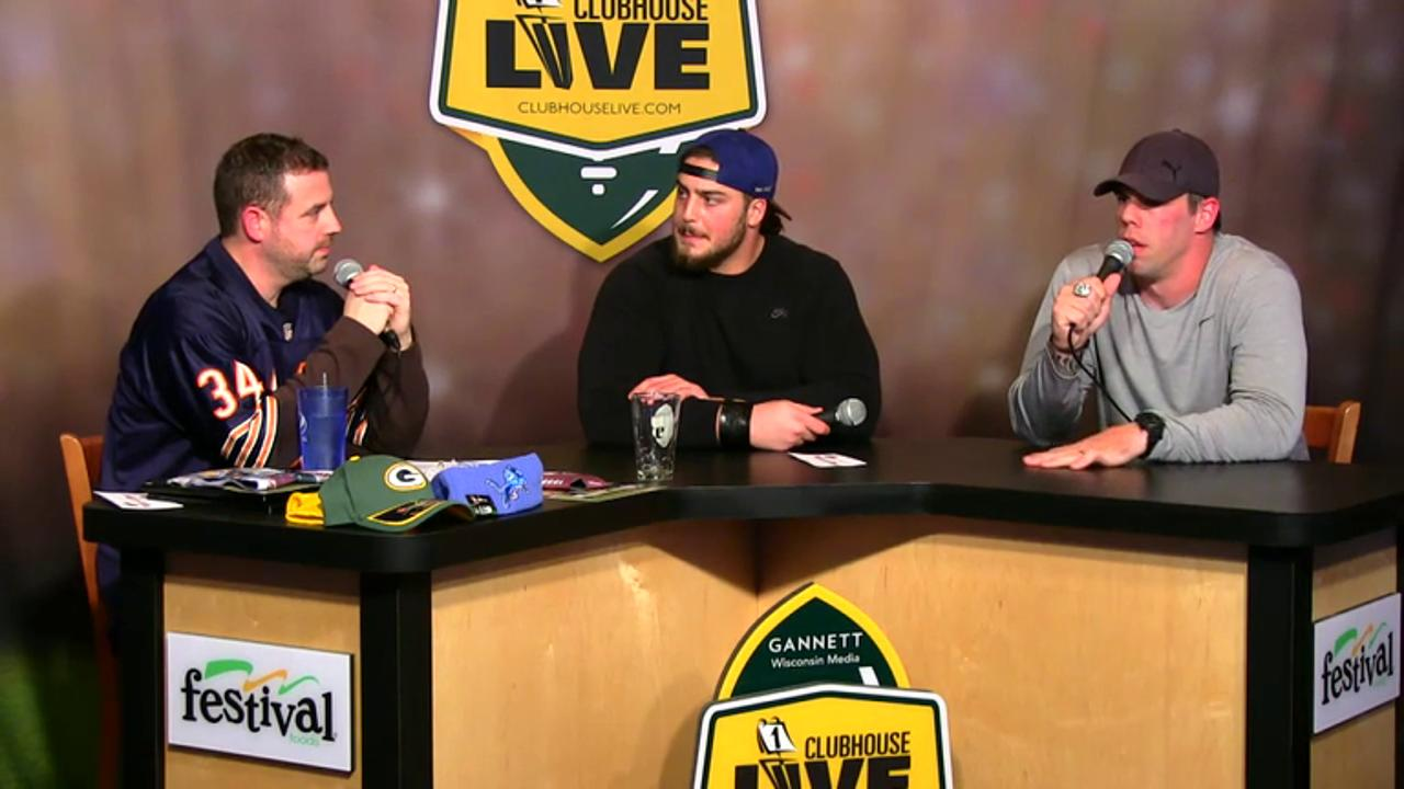 Green Bay Packers David Bakhtiari co-hosts Clubhouse Live, Gannett Wisconsin Media's live weekly pro football show from The Clubhouse in downtown Appleton. Bakhtiari's guest was retired ex-Packers fan favorite Tom Crabtree (Nov. 30, 2015)