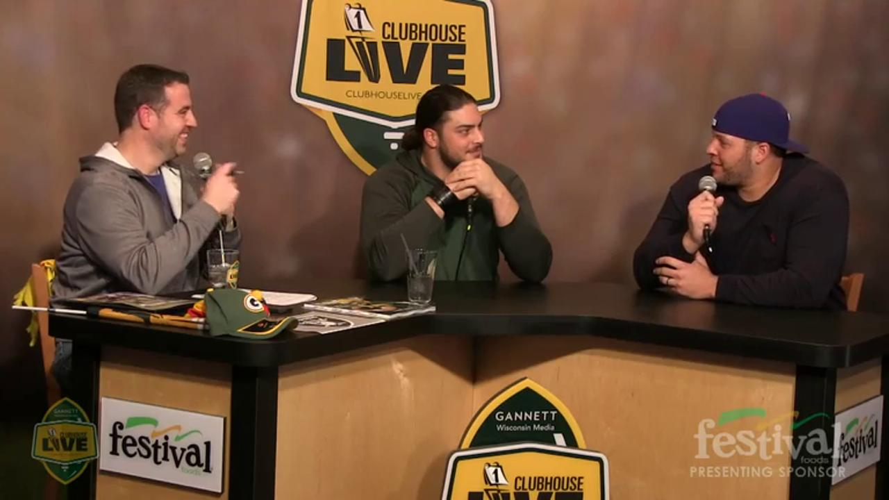Green Bay Packers David Bakhtiari co-hosts Clubhouse Live, Gannett Wisconsin Media's live weekly pro football show from The Clubhouse in downtown Appleton. Bakhtiari's guest was offensive lineman Lane Taylor (Dec. 14, 2015)