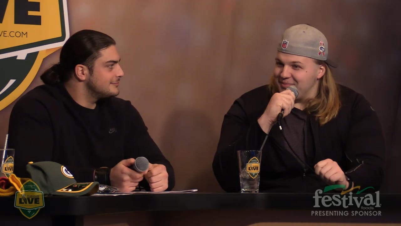 """Green Bay Packers Matt Rotheram explains how Aaron Rodgers gave him his nickname """"Ram Jam"""" on Clubhouse Live, USA Today Network - Wisconsin's live weekly pro football show from The Clubhouse in downtown Appleton. (Jan. 13, 2016)"""