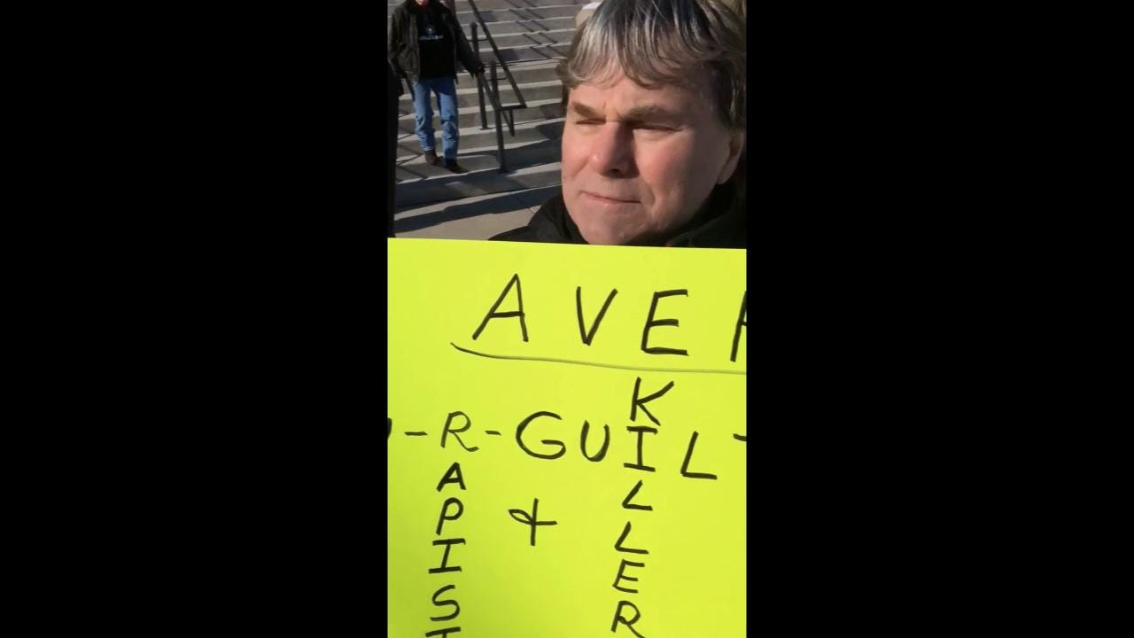 One anti-Avery protester shares why he is attending the protest.