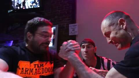 Here's how competitors squared off at the Wisconsin State Arm Wrestling Championship in Stevens Point.