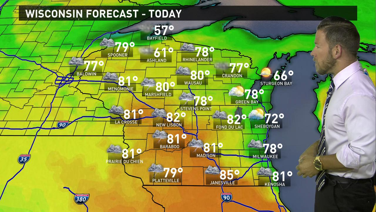 Wisconsin weather forecast for Wednesday, May 25
