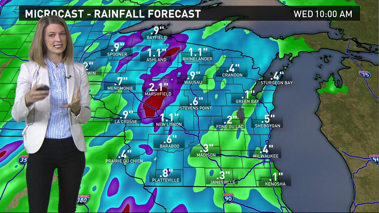 Wisconsin weather forecast for Tuesday, May 31