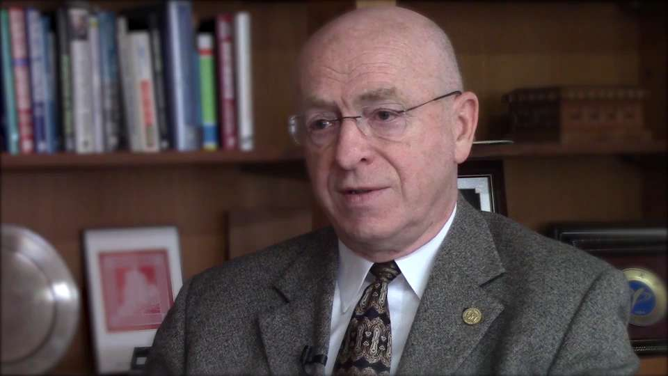 University of Wisconsin system president Ray Cross discusses the state's support of veterans. (May 26, 2016)