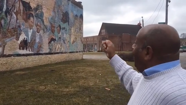 Clayborn Benson, executive director and founder of the Wisconsin Black Historical Society talks about redoing the mural on 26th and Center streets. Video by James E. Causey