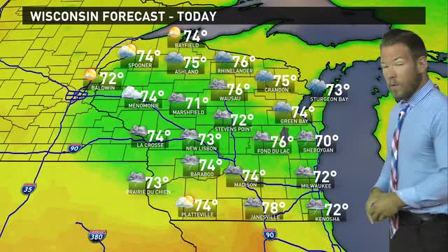 Wisconsin weather forecast for Thursday, June 23