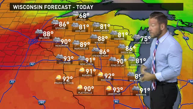 Wisconsin weather forecast for Friday, June 10