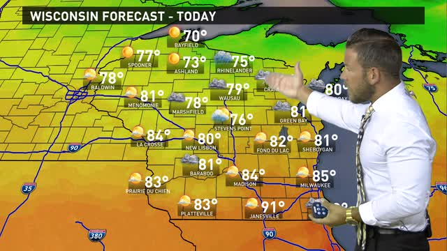 Wisconsin weather forecast for Monday, June 20