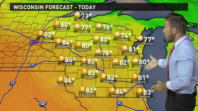 Wisconsin weather forecast for Tuesday, June 21