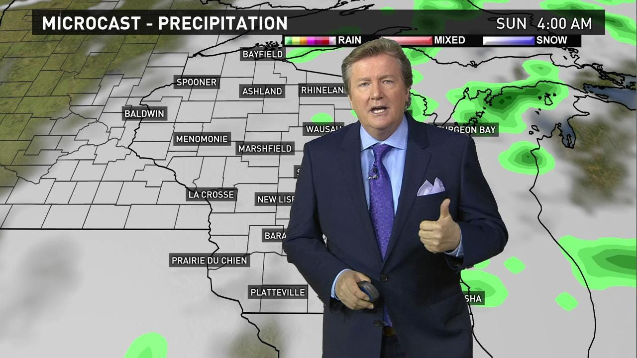 Wisconsin weather forecast for Friday, June 3