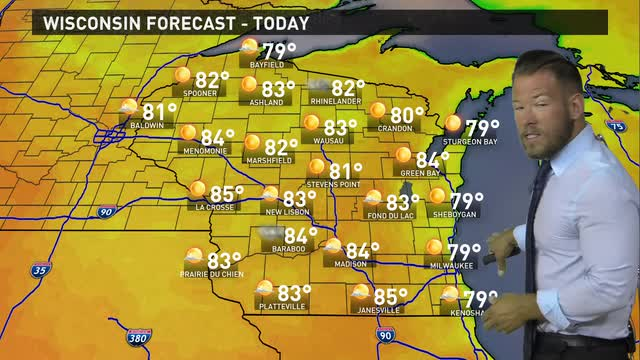 Wisconsin weather forecast for Friday, June 24