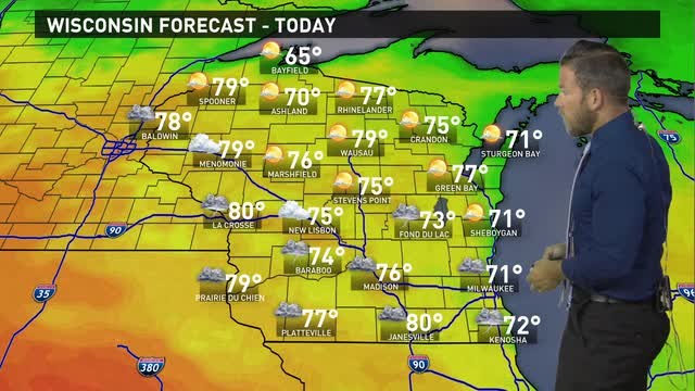 Wisconsin weather forecast for Wednesday, June 22
