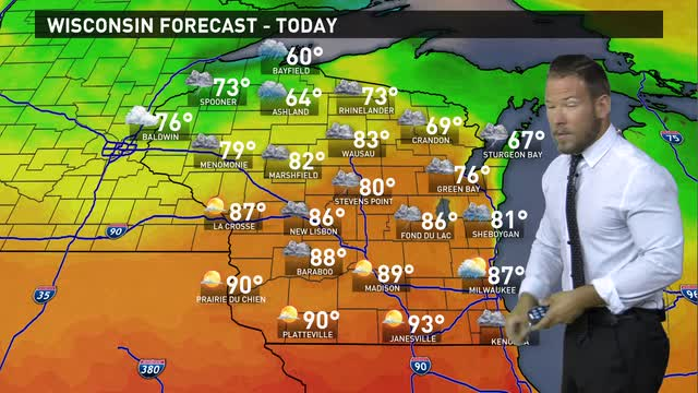 Wisconsin weather forecast for Wednesday, June 15