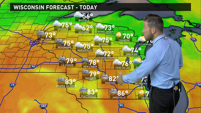 Wisconsin weather forecast for Tuesday, June 14