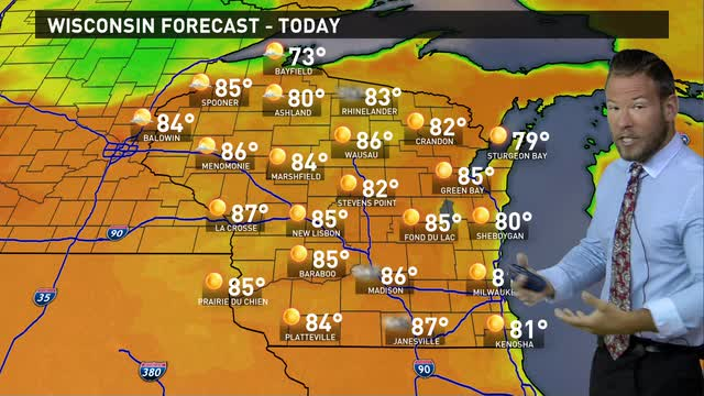 Wisconsin weather forecast for Friday, June 17