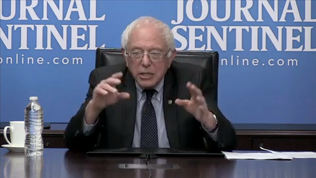 In a meeting with the Journal Sentinel Editorial Board and reporters, Sen. Bernie Sanders discusses recent comments on abortion and his pro-choice stance.