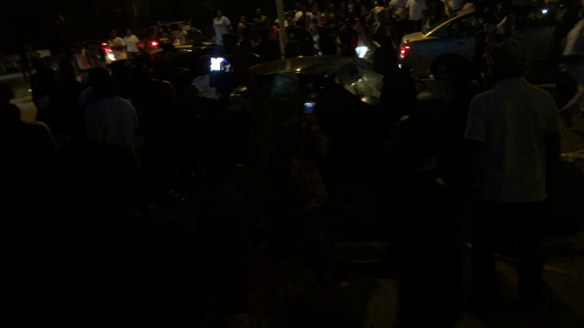 Violence erupts after officer-involved shooting