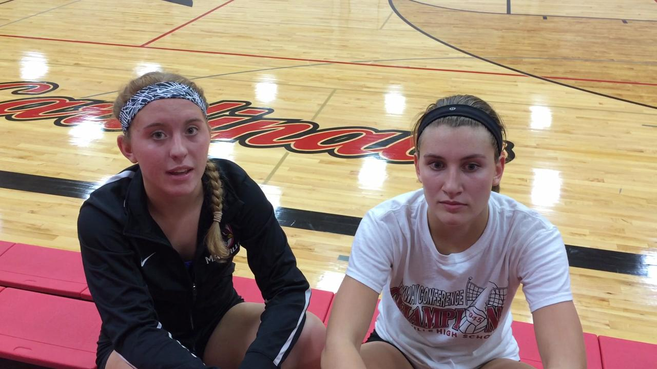 Mayville's Kelsey Margelofsky and Paige Persha