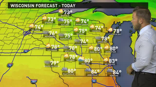 Wisconsin weather forecast for Thursday, Sept. 8