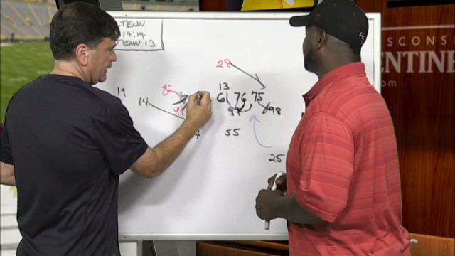 In their weekly X's and O's series, Tom Silverstein and ex-Packer LeRoy Butler discuss the discipline needed to shut down the Vikings' Adrian Peterson. They also diagram how the Packers can take advantage of Minnesota's defensive aggressiveness.