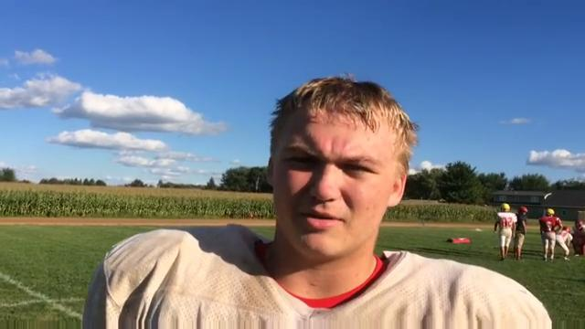 Spencer/Columbus coach Jason Gorst and senior Max Johnson talk about the Rockets' Cloverbelt showdown with Stanley-Boyd Friday night in Spencer.