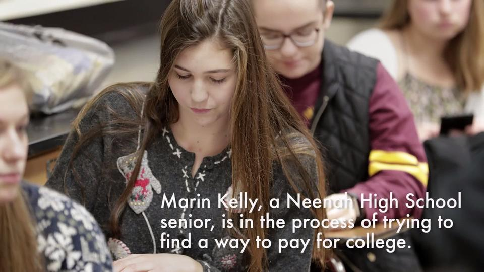 Neenah High School senior discusses paying for college