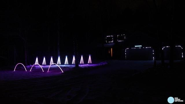 Andrew Konkol has turned his house and yard at 2730 31st St. S. in Wisconsin Rapids into a Christmas light show, complete with matching music.