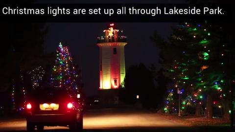 Some facts about the Lakeside Park christmas lights.