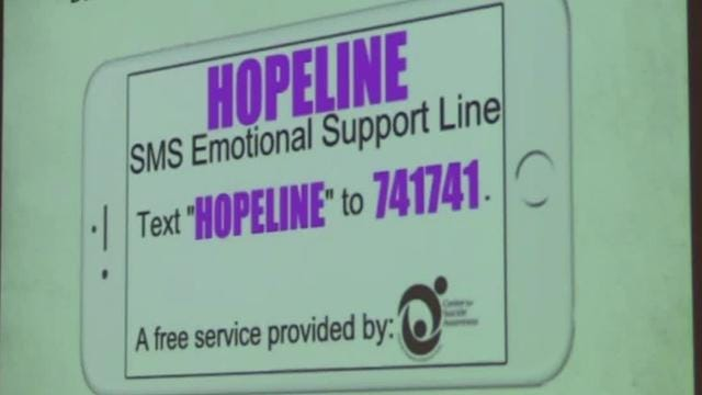 HOPELINE for suicide prevention