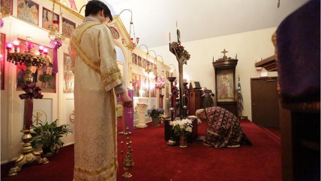 Holy Trinity Greek Orthodox Church Easter service