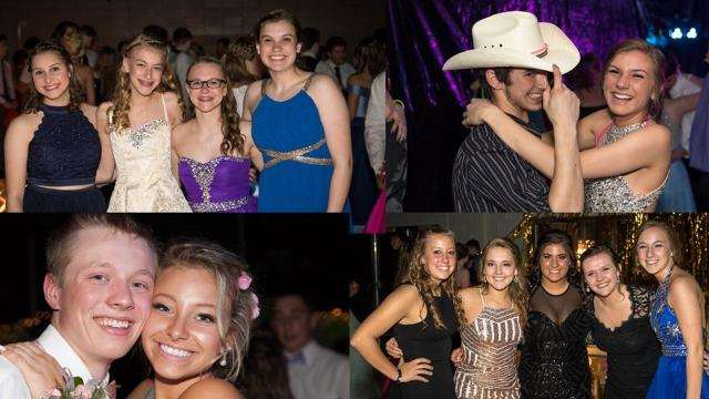 A video glimpse inside 2017 proms at Stevens Point Area Senior High, Pacelli High School, Amherst High School and Rosholt High School.