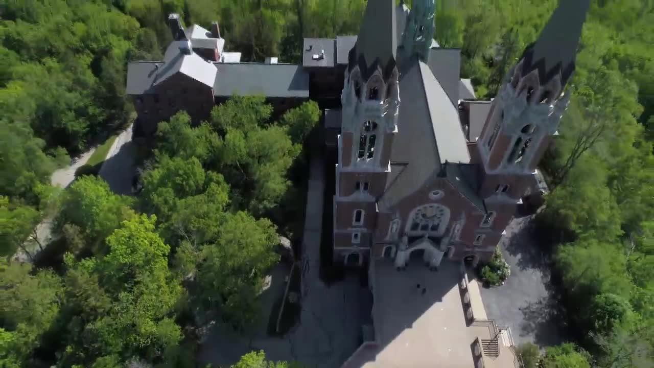 Video: Holy Hill from a drone