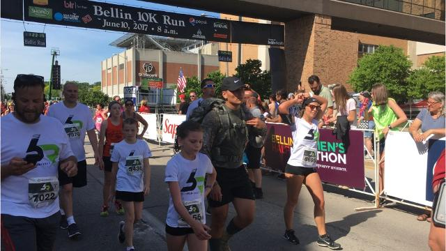 Almost 14,000 runners, walkers and riders participated in the 41st Bellin Run Saturday in Green Bay and Allouez.