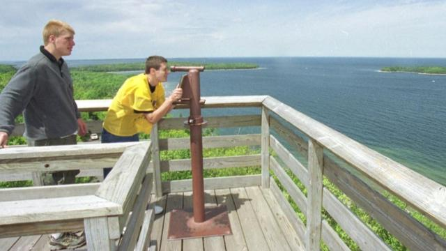 Eagle Tower in Peninsular State Park was closed after an inspection report raised concerns about the structural integrity. It was dismantled in 2016 with plans to build a similar structure.