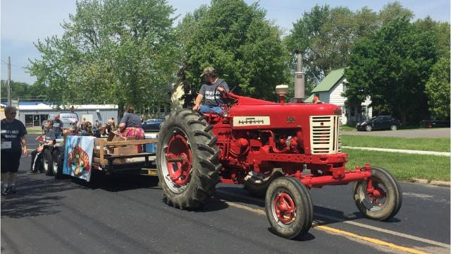 Marshfield celebrates the annual Dairyfest with a parade through the city.