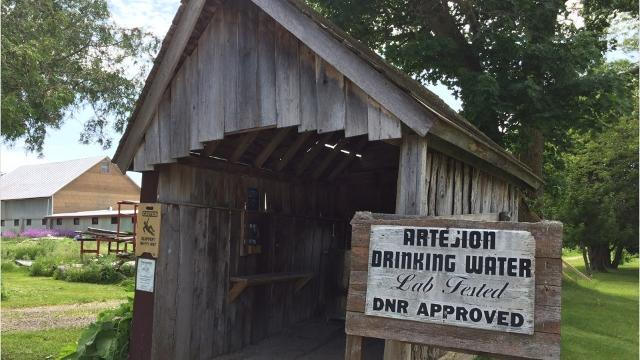An artesian well located along a rural country road in Fond du Lac County offers thirsty travelers a cool, refreshing drink. It's only a quarter for a gallon, on an honor system. (Sharon Roznik/USA TODAY NETWORK-Wisconsin)